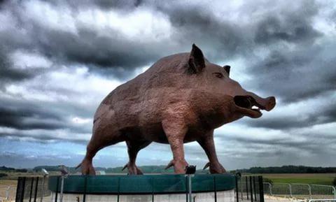 Скульптура Кабан Войнич